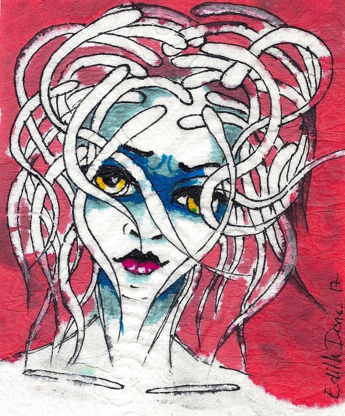 Edith Donc - Cheveux éléctrique