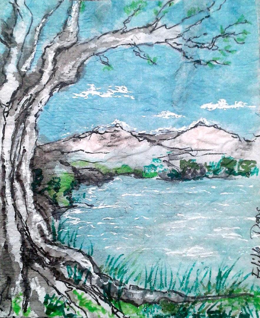 Edith Donc - Au bord du lac