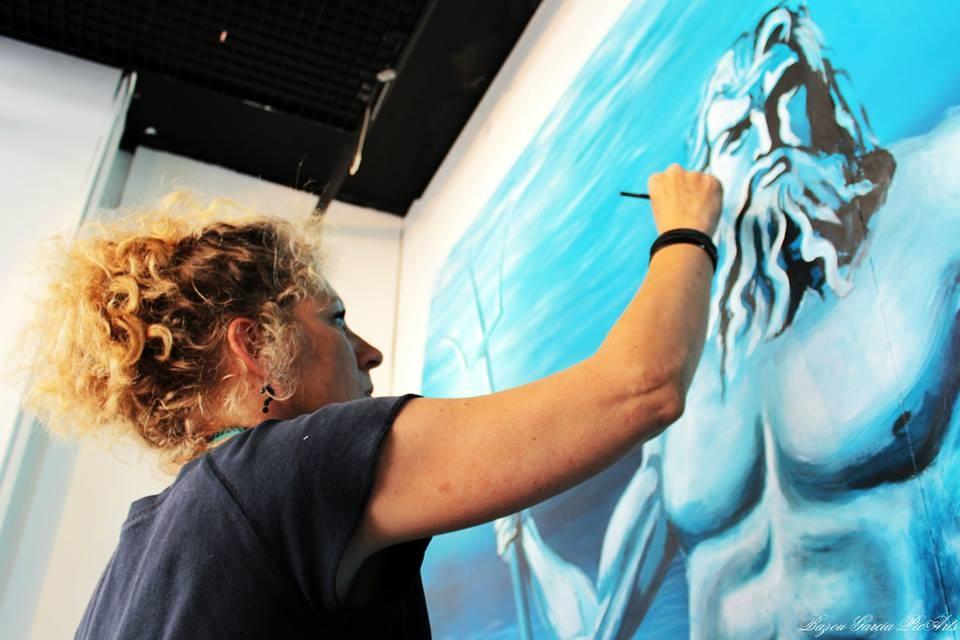 EDITH DONC - Performance vitrine Galerie Lafayette