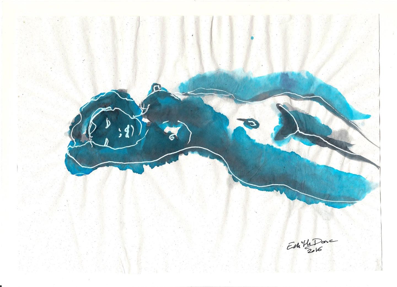 Edith Donc - Nu allongé