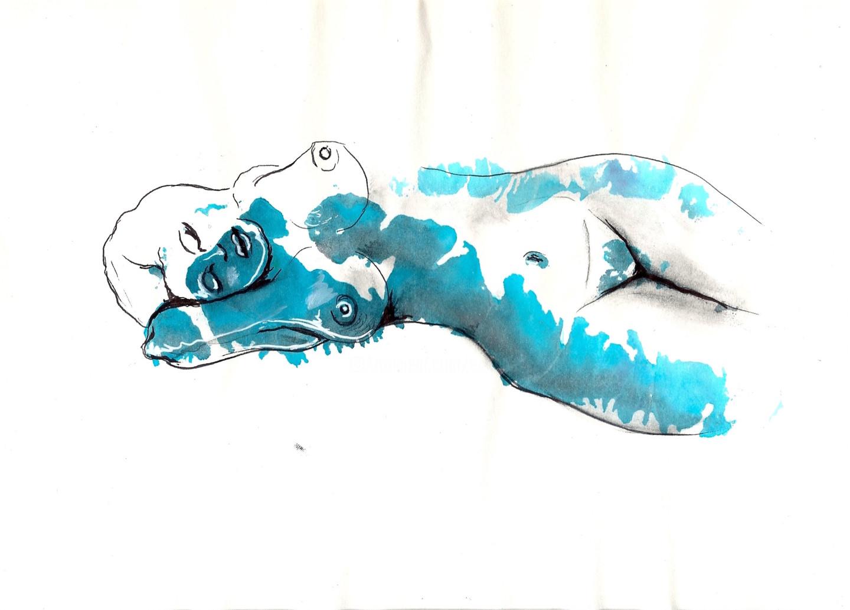 Edith Donc - Nu allongé II