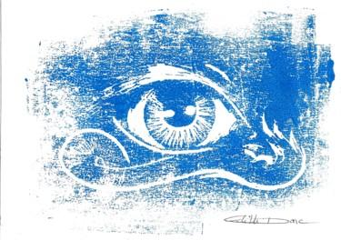 Oeil bourgeons bleu clair