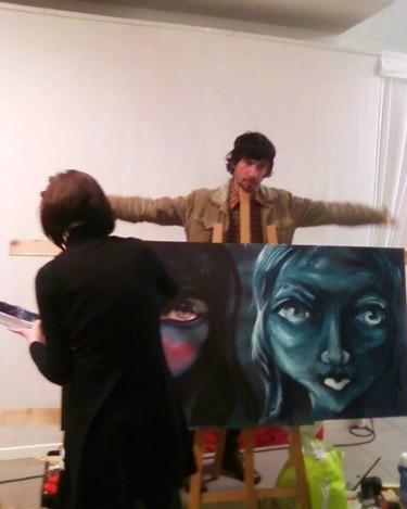 Peinture duo à L'Art évolution