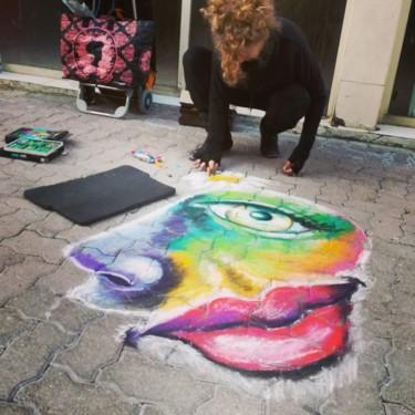Street painting Noel Hyères 30/12/16