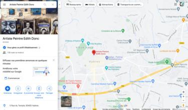 Lien Google Maps de l'atelier