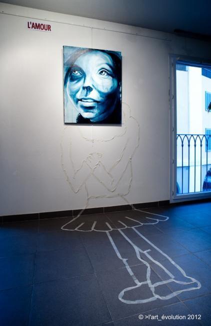 EDITH DONC - Accrochage exposition espace St Nazaire
