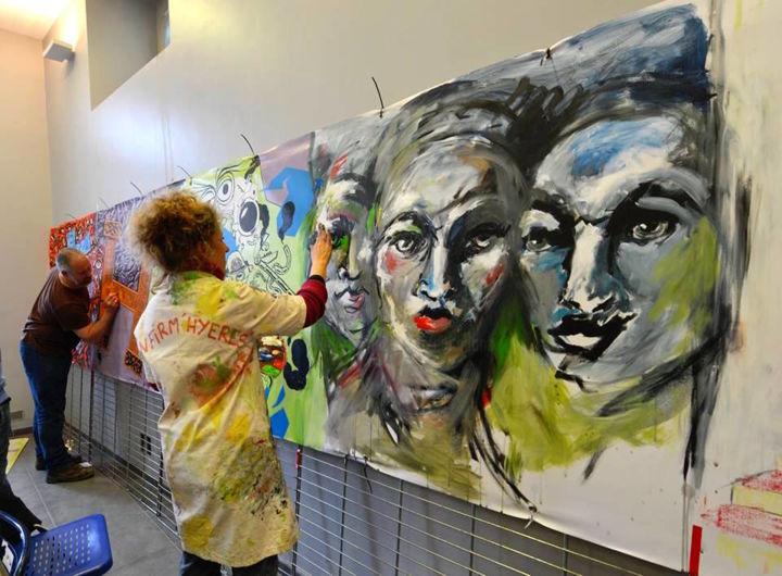 EDITH DONC - Performance peinture Journée des Arts