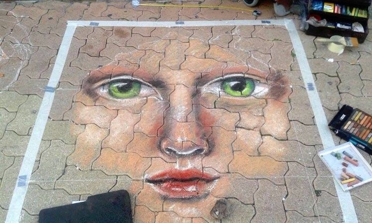 Street painting,  Hyères,  Tomax,  Edith Donc
